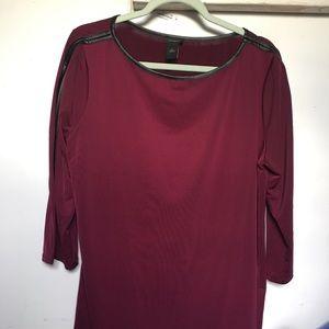 Ann Taylor Blouse  Size XL / Color: Burgundy Wine